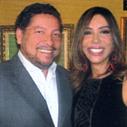 Maura Roth e o especialista em vinho Elidio Lopes