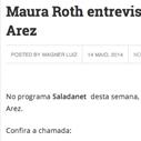 Maura Roth entrevista o cantor e compositor Arez